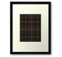 02845 Niagara County, New York Tartan  Framed Print