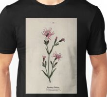 Wayside and woodland blossoms a pocket guide to British wild flowers for the country rambler  by Edward Step 1895 066 Rugged Ragged Robin Unisex T-Shirt