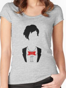 Eleventh Doctor Silhouette Women's Fitted Scoop T-Shirt