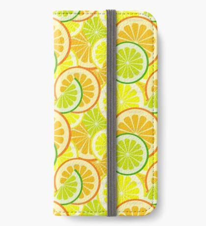 Citrus Pattern iPhone Wallet/Case/Skin