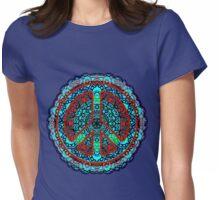 Peace Mandala Meditation - Visualize World Peace - Pray for Peace - Womens Fitted T-Shirt
