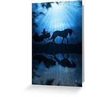 One Horse Open Sliegh Christmas Card Greeting Card