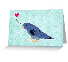 cobalt linnie love Greeting Card
