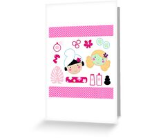 Beauty and spa design elements collection Greeting Card