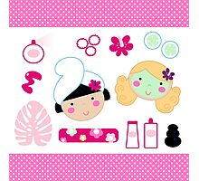 Beauty and spa design elements collection Photographic Print