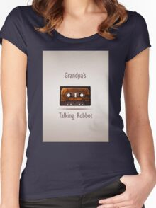 Grandpa's talking robbot Women's Fitted Scoop T-Shirt