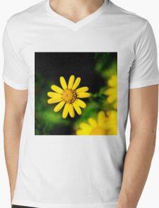 Dark Nature: Yellow Flower Mens V-Neck T-Shirt