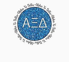 Alpha Xi Delta Blue Glitter Unisex T-Shirt