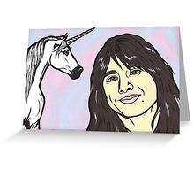 Steve Perry and Unicorn Greeting Card