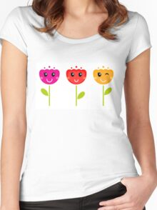 Cute colorful tulips - SPRING Designs Women's Fitted Scoop T-Shirt
