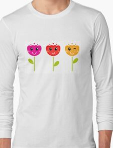 Cute colorful tulips - SPRING Designs Long Sleeve T-Shirt