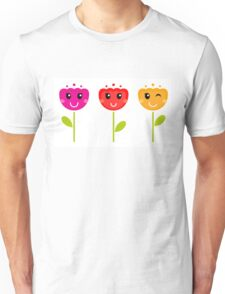 Cute colorful tulips - SPRING Designs Unisex T-Shirt
