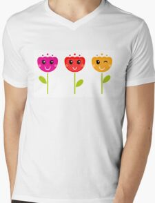 Cute colorful tulips - SPRING Designs Mens V-Neck T-Shirt