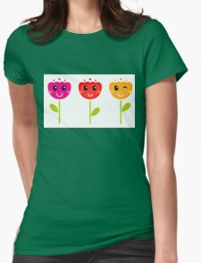 Cute colorful tulips - SPRING Designs Womens Fitted T-Shirt