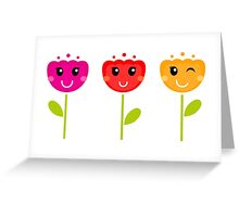 Cute colorful tulips - SPRING Designs Greeting Card