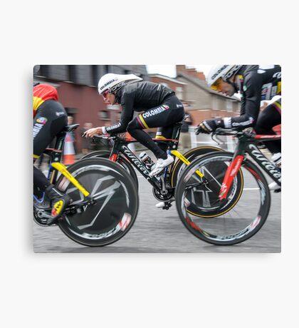 Giro d'Italia - Belfast  - Not So Pink Canvas Print