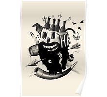 Bearded Skull Poster