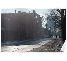 Ossington Ave, Crossing The Street Poster