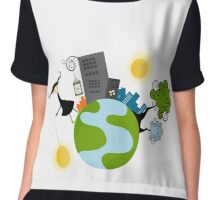 Urban Girl Vector Illustration Chiffon Top