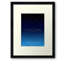 Science Fiction: The Movie!- Blue Framed Print