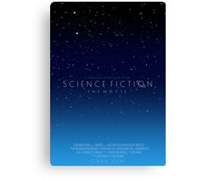 Science Fiction: The Movie!- Blue Canvas Print