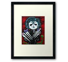 Scissorhands Framed Print