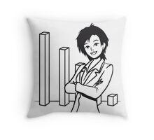 successful career woman Throw Pillow