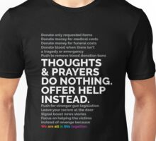Thoughts and prayers do nothing Unisex T-Shirt