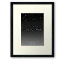 Science Fiction: The Movie!- Gray Framed Print