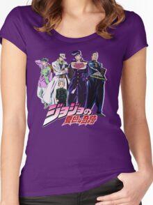 Crazy Noisy Bizarre Town - Jojo's Bizarre Adventure Women's Fitted Scoop T-Shirt