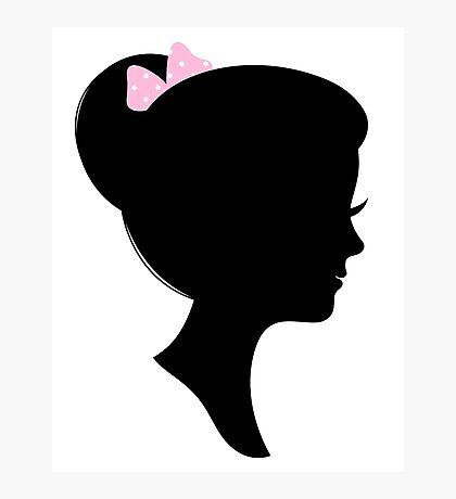 Beautiful female silhouette Retro Portrait Photographic Print