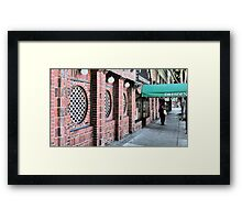 Solo Shopper Framed Print