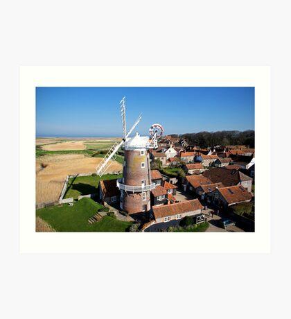 Cley Windmill - Unusual Aeriel shot Art Print