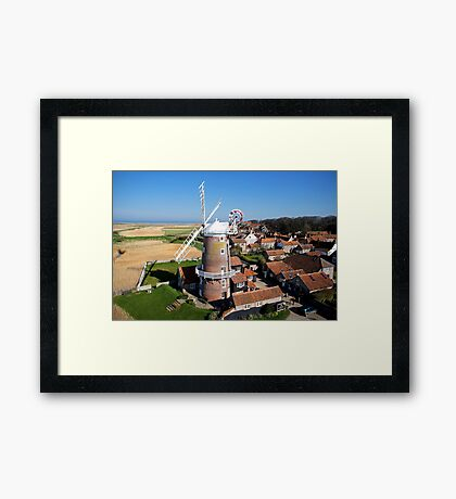 Cley Windmill - Unusual Aeriel shot Framed Print