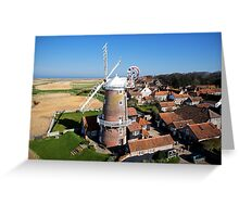 Cley Windmill - Unusual Aeriel shot Greeting Card