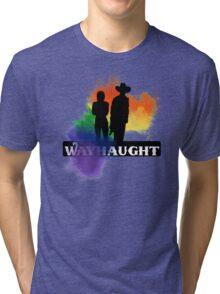 Wayhaught - Rainbow Splash Tri-blend T-Shirt