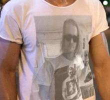 Ryan Gosling wearing Macaulay Culkin wearing Ryan Gosling wearing Macaulay Culkin shirt Sticker