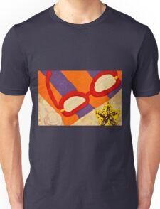 Beach Towel with Glasses, Seashell, and Starfish Unisex T-Shirt