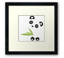 Cute Cartoon Kawaii Panda Framed Print