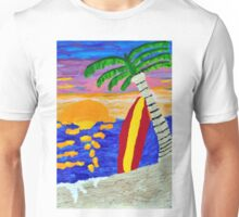 Surfer Sunset Unisex T-Shirt