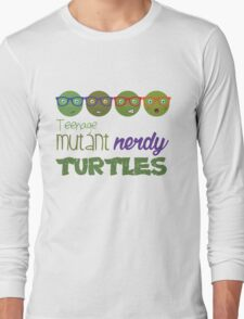 FunnyBONE Nerdy Turtles Long Sleeve T-Shirt