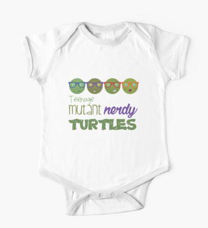 FunnyBONE Nerdy Turtles One Piece - Short Sleeve