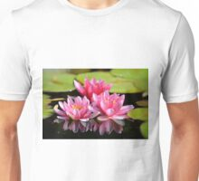 Water Lilly Triplets Unisex T-Shirt