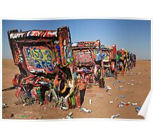 Route 66 - Cadillac Ranch Poster