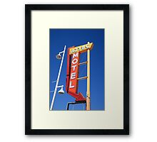 Route 66 - Aztec Motel Framed Print