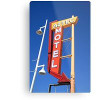 Route 66 - Aztec Motel Metal Print