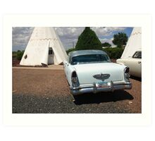 Route 66 - Wigwam Motel Art Print