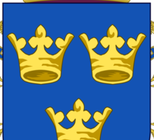 The Coat of Arms of Kingdom of Sweden  Sticker