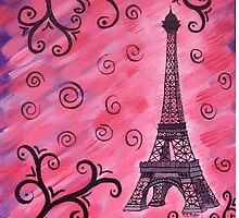 Eiffel Tower in Pink by VJMaheu