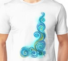 Blue Abstract Wave Unisex T-Shirt